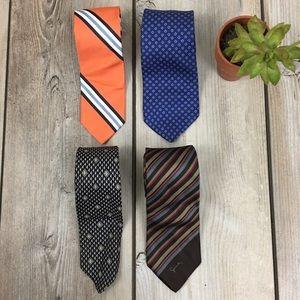 Yves St Laurent Givenchy Silk Designer Tie Set